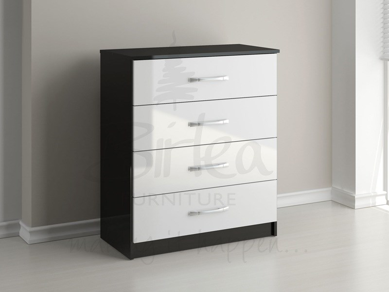 Lynx 4 Drawer Chest Black And White Main Image
