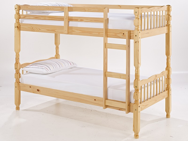 LPD Furniture Melissa Bunk Pine 3\' Single Bunk Bed Image0 Image
