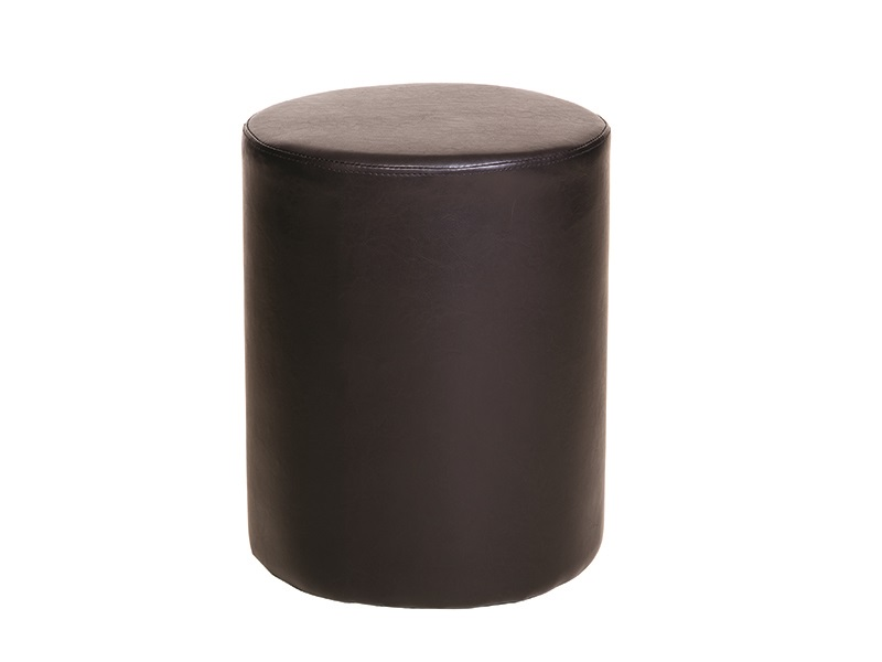 Brazil Round Faux Leather Stool Main Image