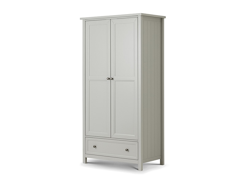Julian Bowen Maine 2 Door Combination Wardrobe Surf White Wardrobe Image0 Image