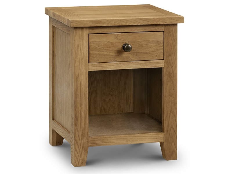 Julian Bowen Marlborough 1 Drawer Bedside Oak Bedside Chest Image0 Image