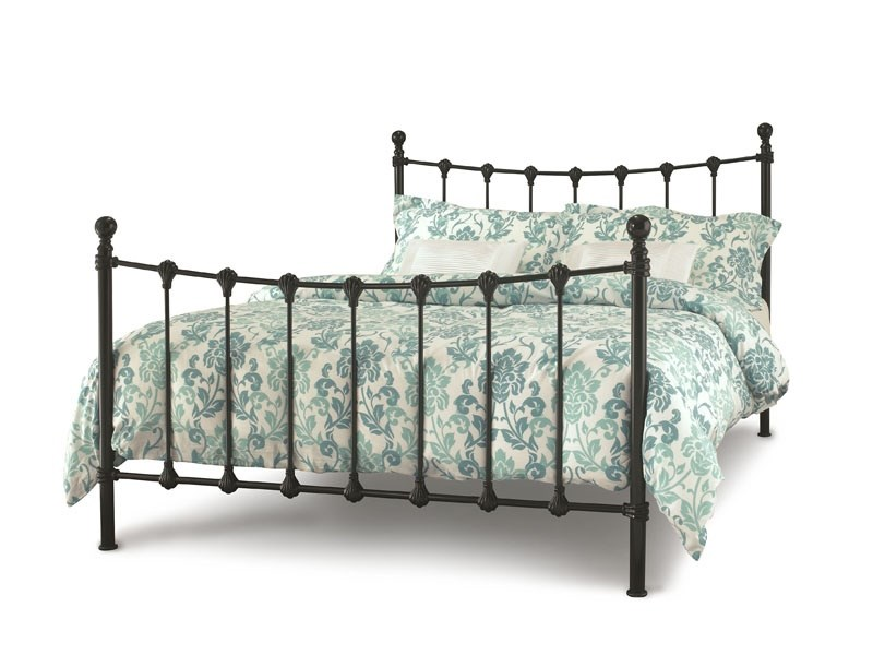 Serene Furnishings Marseilles 3\' Single Glossy Black Metal Bed Image0 Image