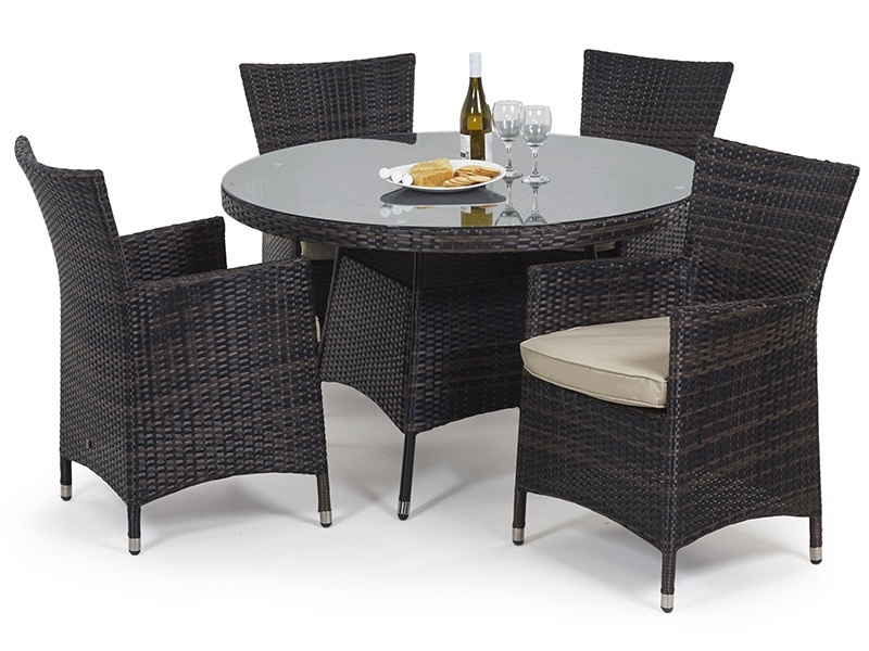 Miami 4 Seat Round Dining Set Main Image