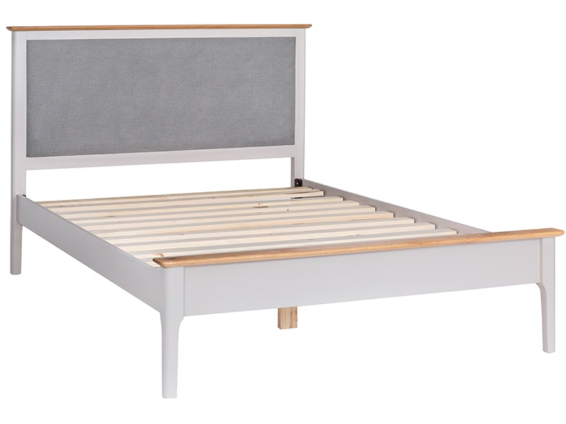 Norfolk White Solid Oak Slatted Bed Frame Image0 Image