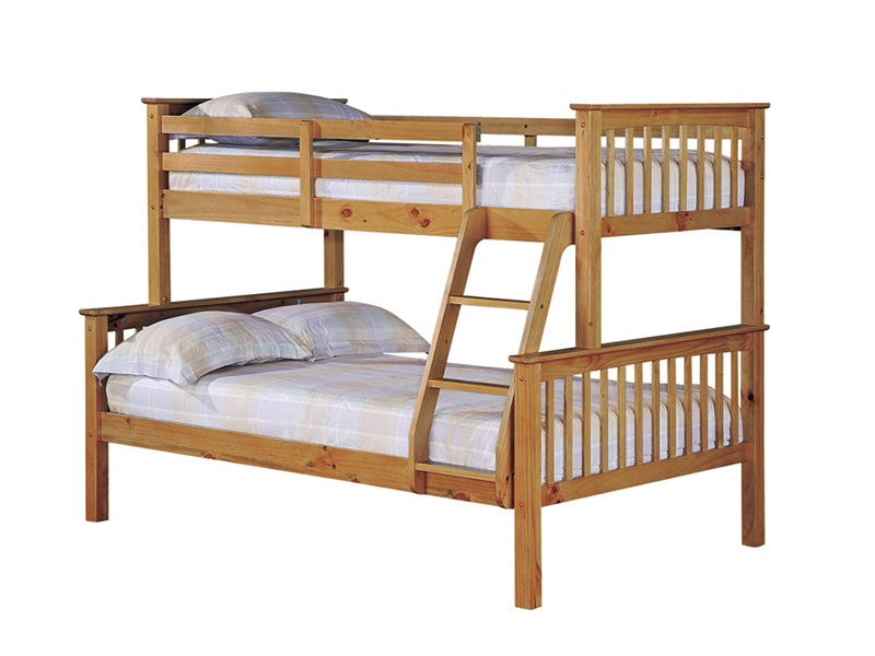 LPD Furniture Otto Trio Bunk Pine 4\' Small Double Bunk Bed Image0 Image