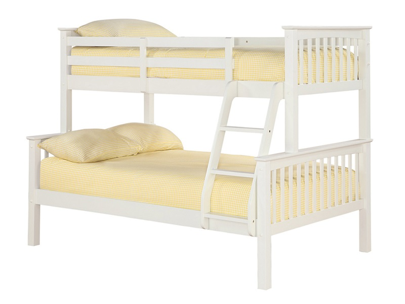 Furniture Express Otto Trio Bunk White 4\' Small Double Bunk Bed Image0 Image