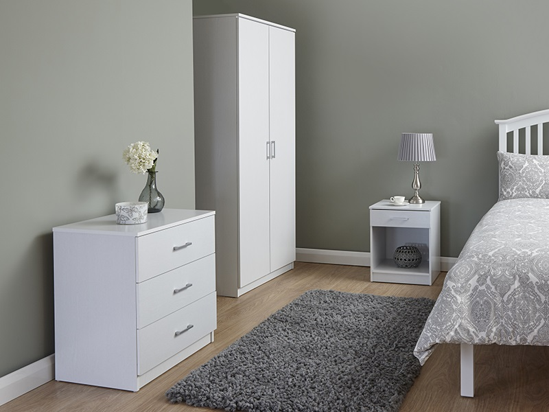Superieur Panama White 3 Piece Bedroom Set Main Image