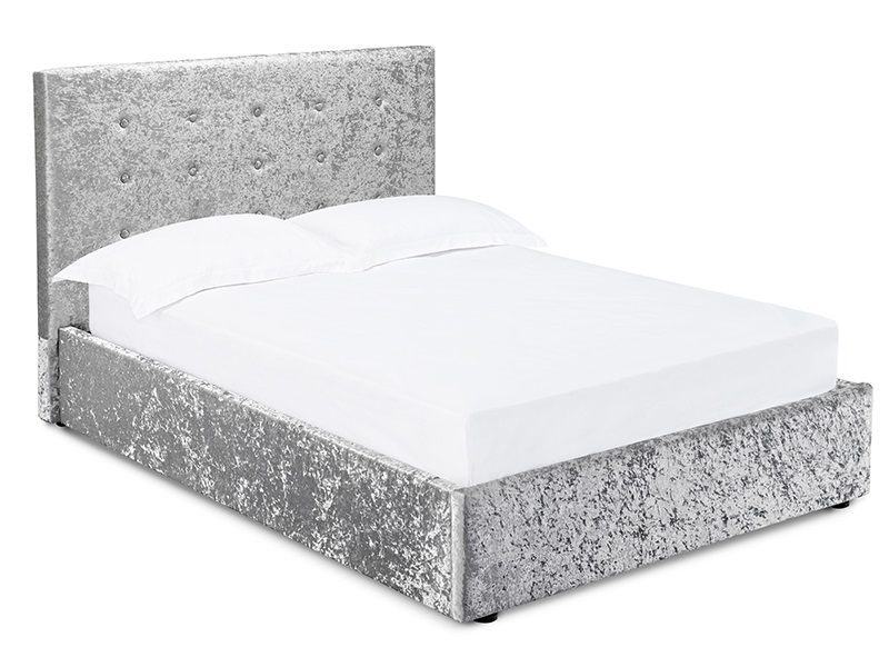 Furniture Express Rimini Silver Ottoman 4\' 6 Double Ottoman Bed Image0 Image