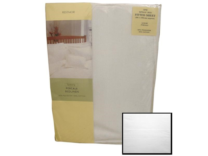 Restmor Fitted Sheet White Main Image