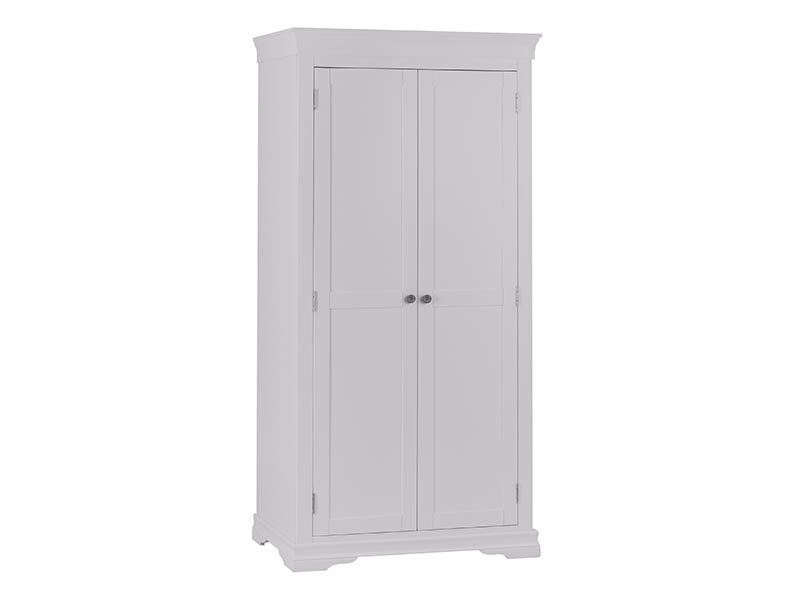 Cambridge Grey 2 Door Full Hanging Wardrobe Main Image