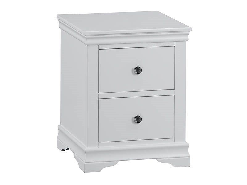 Westpoint Mills Cambridge Grey Large Bedside Cabinet Bedside Chest Image0 Image
