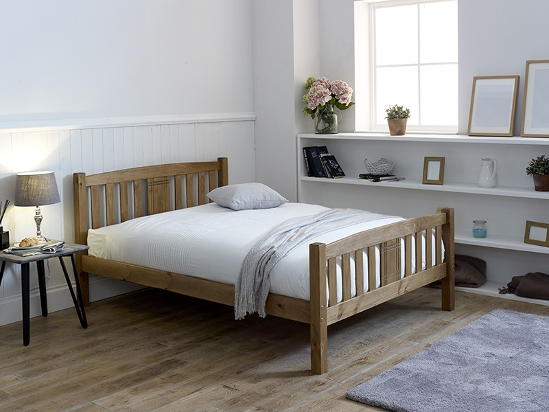 Limelight Sedna 4\' 6 Double Natural Slatted Bedstead Wooden Bed Image0 Image