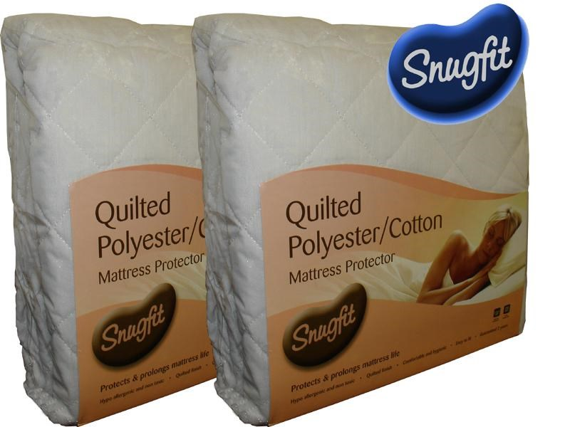DMG 3606 Snugfit 5ft Quilted Polyester Cotton Mattress Protector Main Image