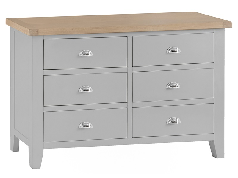 Westpoint Mills Southwold Grey 6 Drawer Chest Drawer Chest Image0 Image
