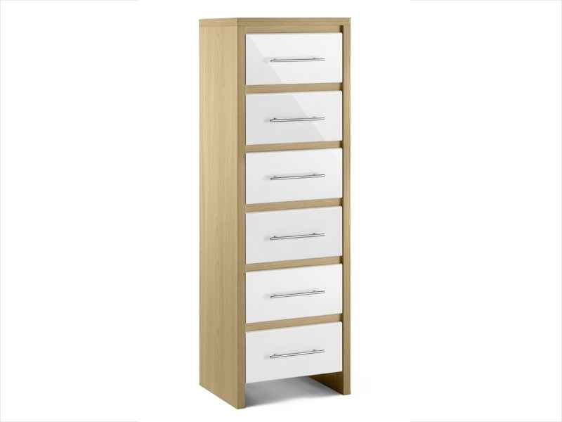 Stockholm 6 Drawer Narrow Chest Main Image