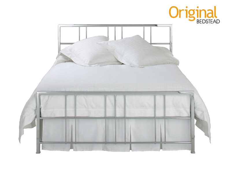 Original Bedstead Co Tain Headboard 4\' 6 Double Chrome Headboard Only Metal Headboard Image0 Image
