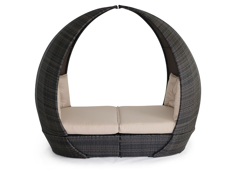Maze Rattan Tulip Daybed Grey Rattan Outdoor Daybed Image0 Image