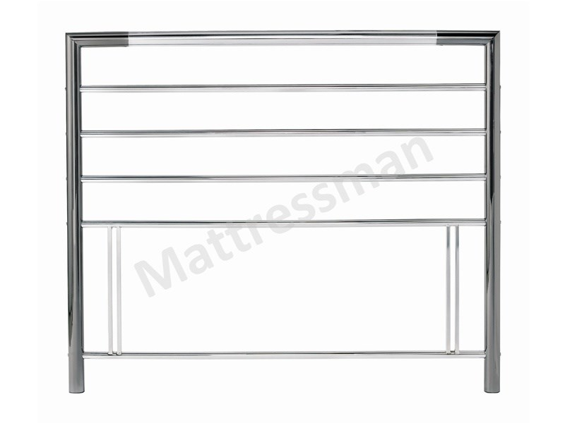 Bentley Designs Urban 3\' Single Nickel And Chrome Metal Headboard Image0 Image