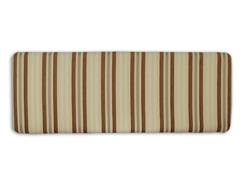 New Design Venus - Tan 4\' 6 Double Tan Stripe Fabric Headboard Image0 Image