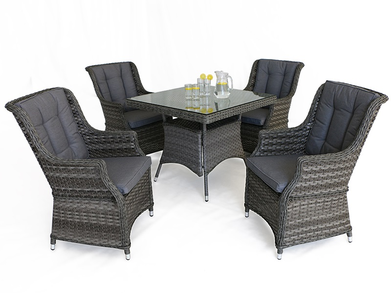Maze Rattan Victoria 4 Seat Square Dining Set Dining Set Image0 Image