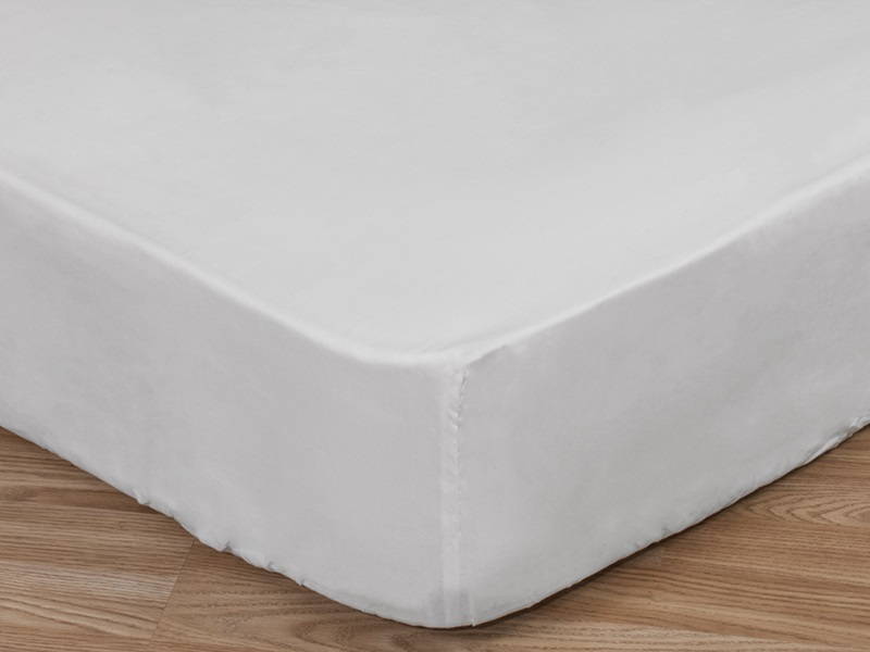 Cotton Sateen Fitted Sheet, Deep Main Image