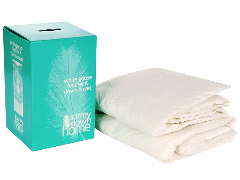 DMG 3605 Surrey Down Company 4.5 Tog 4'6ft White Goose Feather & Down Duvet Main Image