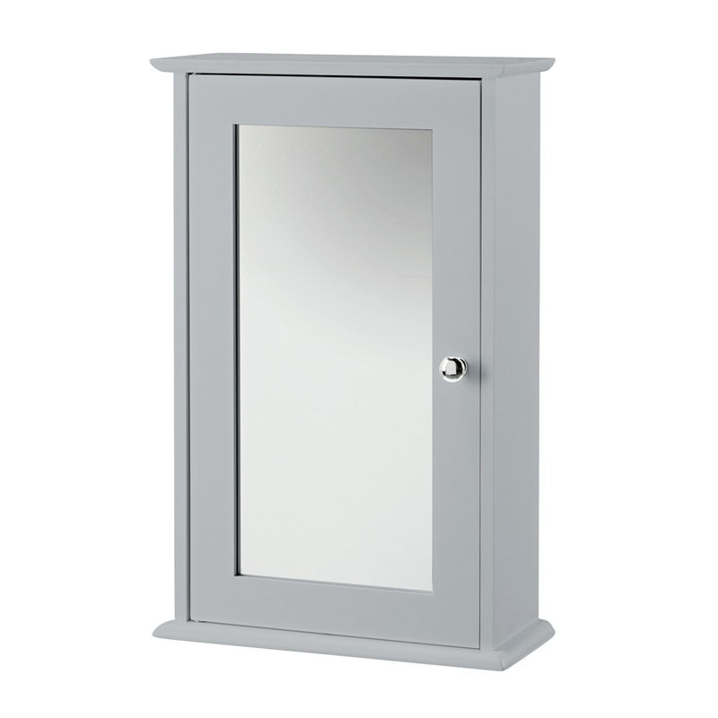LPD Furniture Alaska Wall Cabinet With Mirror Dove Grey Bathroom Cabinet Image0 Image