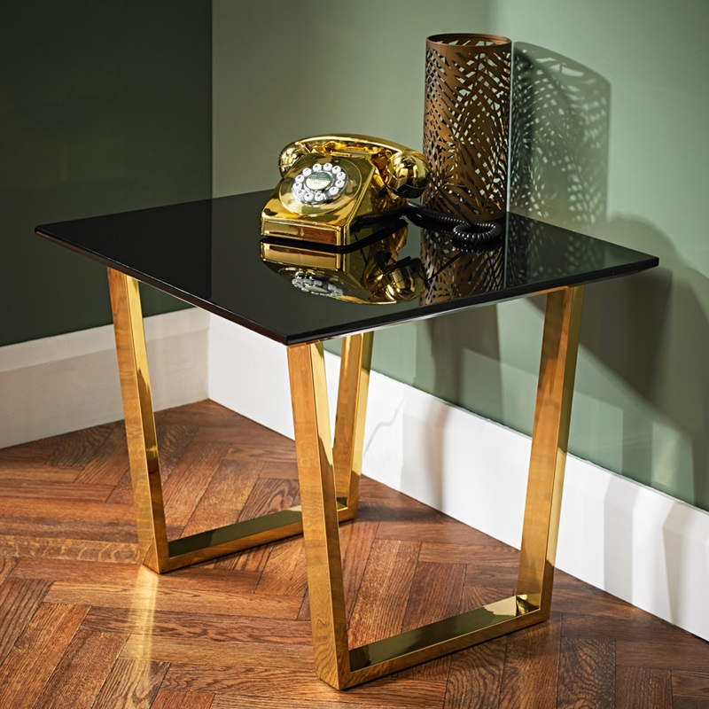 LPD Furniture Antibes Lamp Table Black Lamp Table Image0 Image