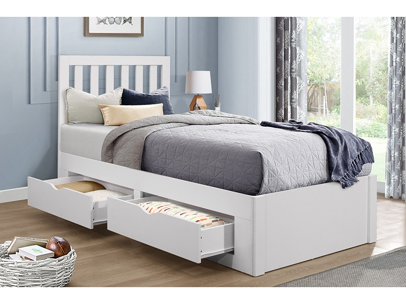 Birlea Appleby 3\' Single White Wooden Bed Image0 Image