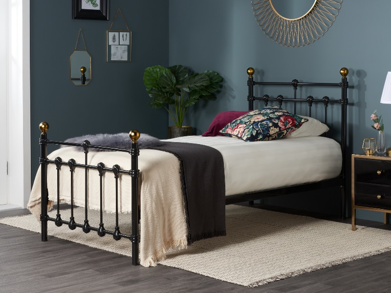 Birlea Atlas Black 3\' Single Black Metal Bed Image0 Image
