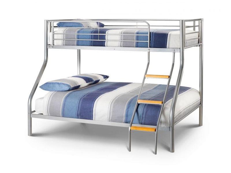 Julian Bowen Atlas Triple Sleeper 3\' Single Silver Bunk Bed Image0 Image