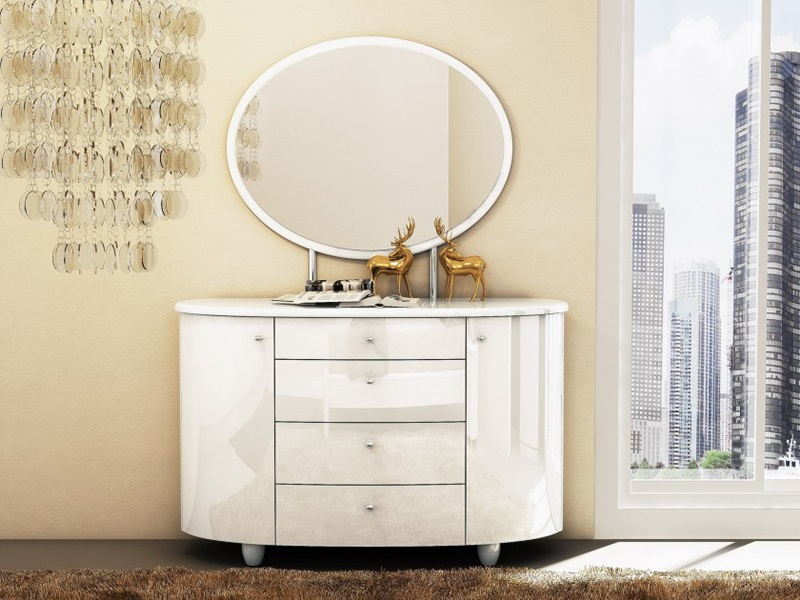 Aztec 4 Drawer Dresser and Mirror Main Image