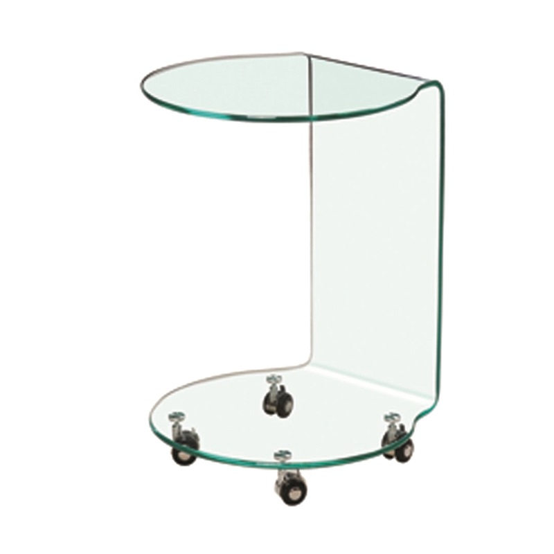 LPD Furniture Azurro Lamp Table Glass Lamp Table Image0 Image