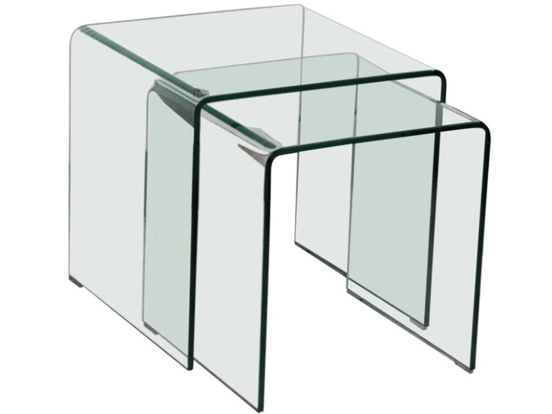 Azurro Nest Of 2 Tables Glass Image0 Image