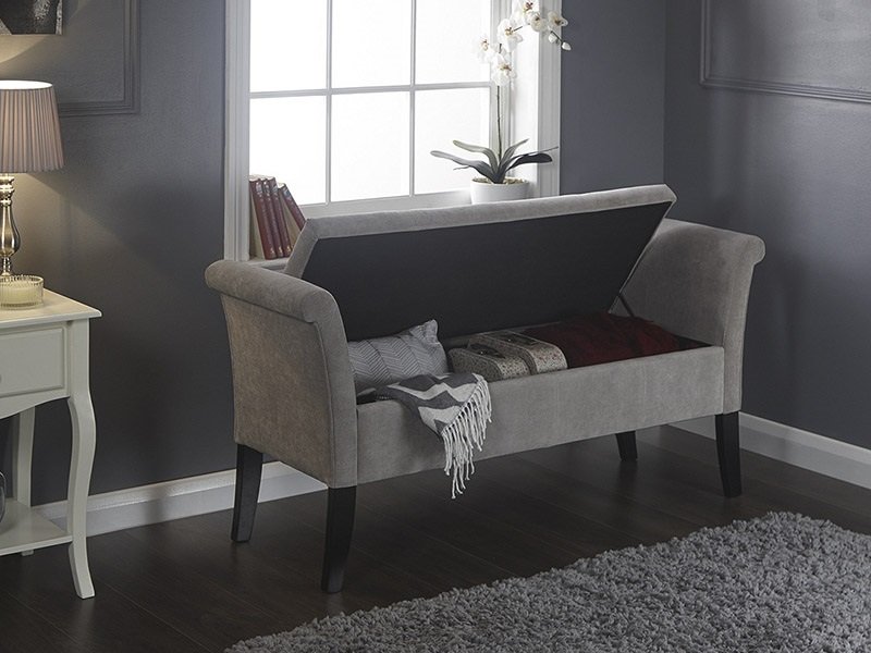 GFW Balmoral Window Seat Chenille Silver Blanket Box Image0 Image