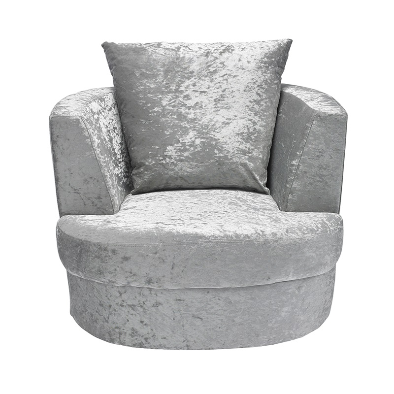 LPD Furniture Bliss Small Swivel Chair Silver Silver Accent Chair Image0 Image