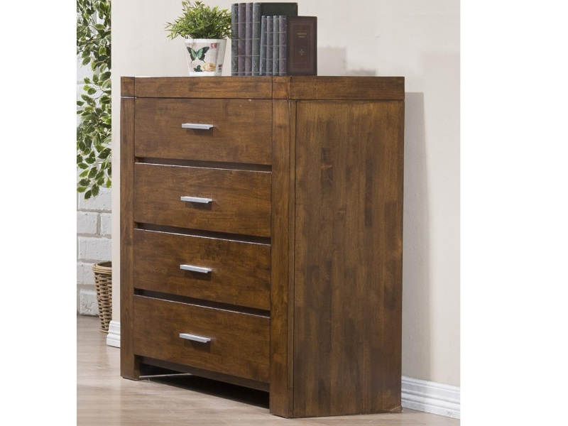 Heartlands Furniture California Solid Wood Tallboy Rustic Oak Drawer Chest Image0 Image
