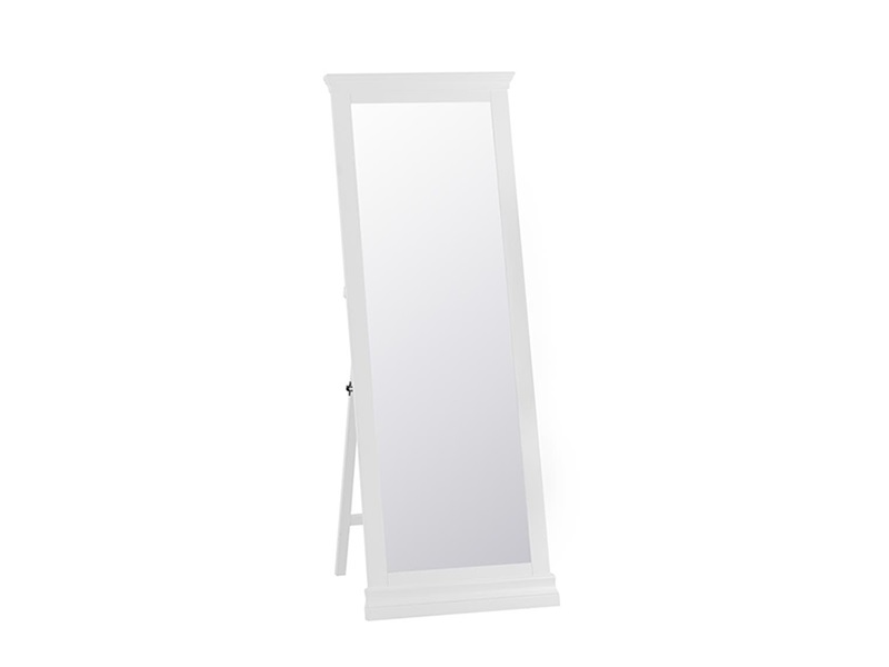 Cambridge White Cheval Mirror Main Image