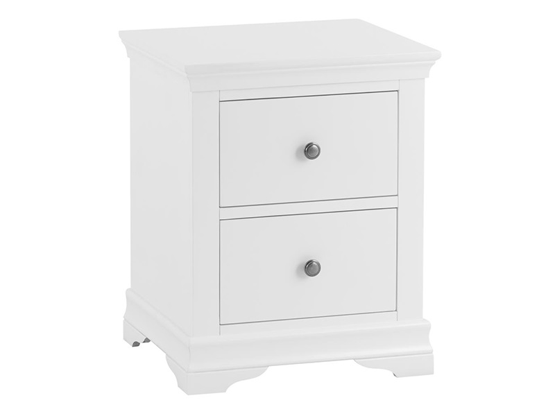 Westpoint Mills Cambridge White Large Bedside Cabinet Bedside Chest Image0 Image