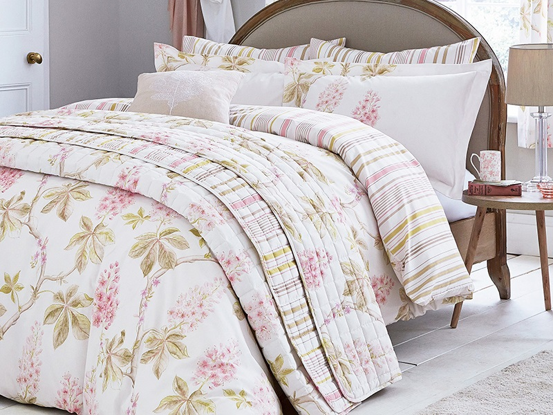Sanderson Chestnut Tree Pink Duvet Cover Set 4\' 6 Double Double Duvet Cover Image0 Image