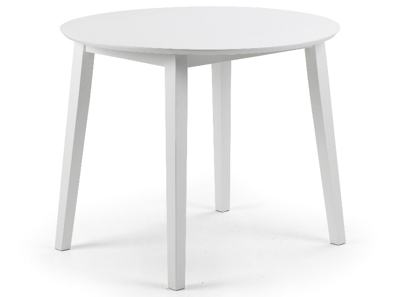 Julian Bowen Coast Dining Table  2\' 6 Small Single White Dining Table Image0 Image