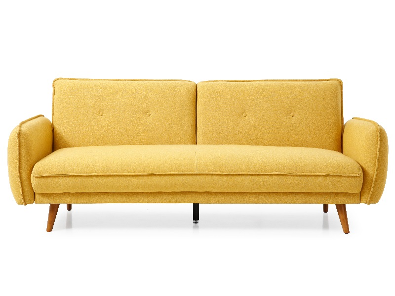 Kyoto Coleman  Sofa Bed 2\' 6 Small Single Mustard Other Sofa Bed Image0 Image