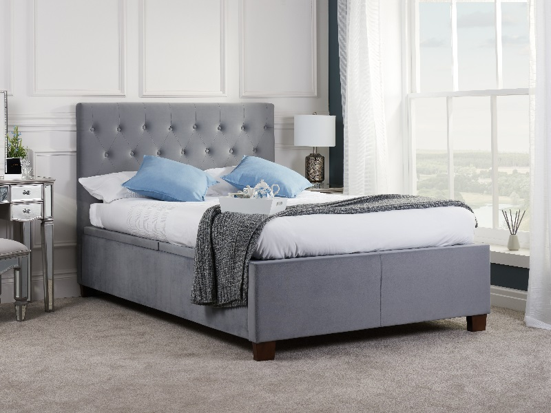 Birlea Cologne Ottoman Bed 4\' 6 Double Grey Ottoman Bed Image0 Image