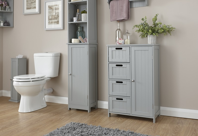 GFW Colonial Multi Cabinet Paint Grey Bathroom Cabinet Image0 Image