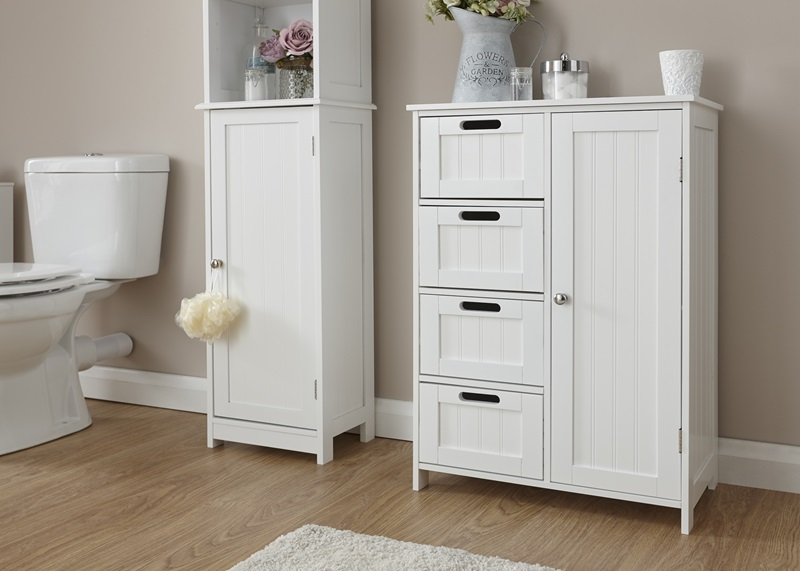 GFW Colonial Multi Cabinet White Bathroom Cabinet Image0 Image