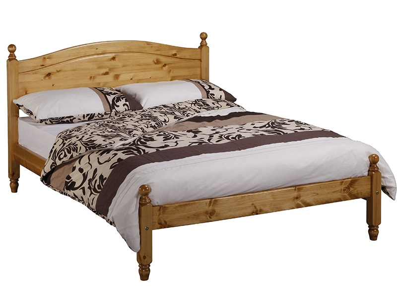 Windsor Duchess 2\' 6 Small Single Antique Wax Low Foot End Wooden Bed Image0 Image