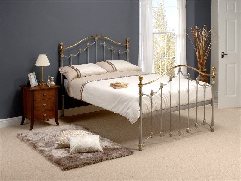 DMG 1605 Original Bedstead Co - 4ft6 Firth in Silver and Gold Main Image