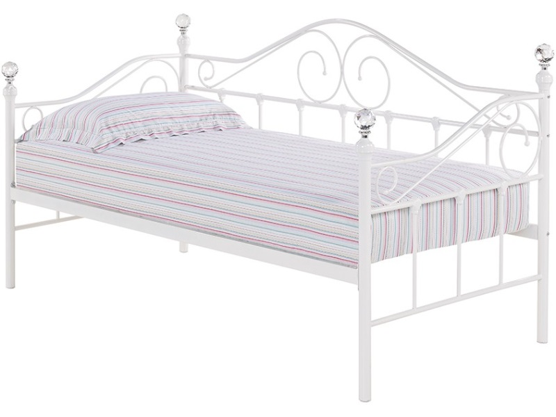 LPD Furniture Florence Daybed White - Trundle Available Separately 3\' Single Day Bed Only Guest Bed Image0 Image