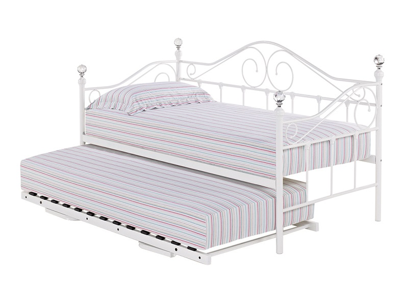 LPD Furniture Florence Daybed White - Trundle Available Separately 3\' Single Trundle Bed Only Guest Bed Image0 Image