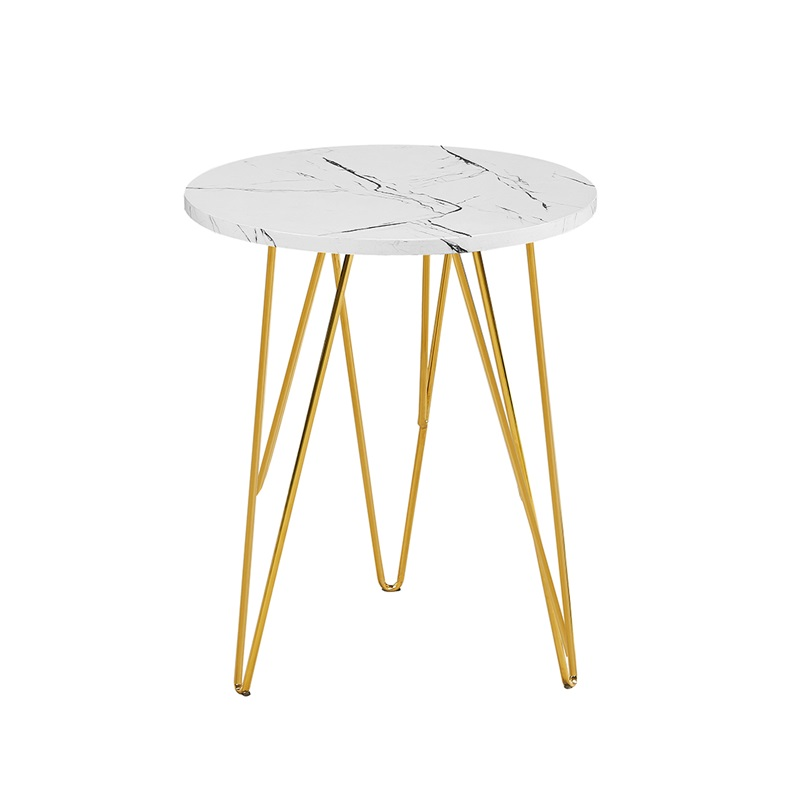 LPD Furniture Fusion Lamp Table White Marble White Lamp Table Image0 Image